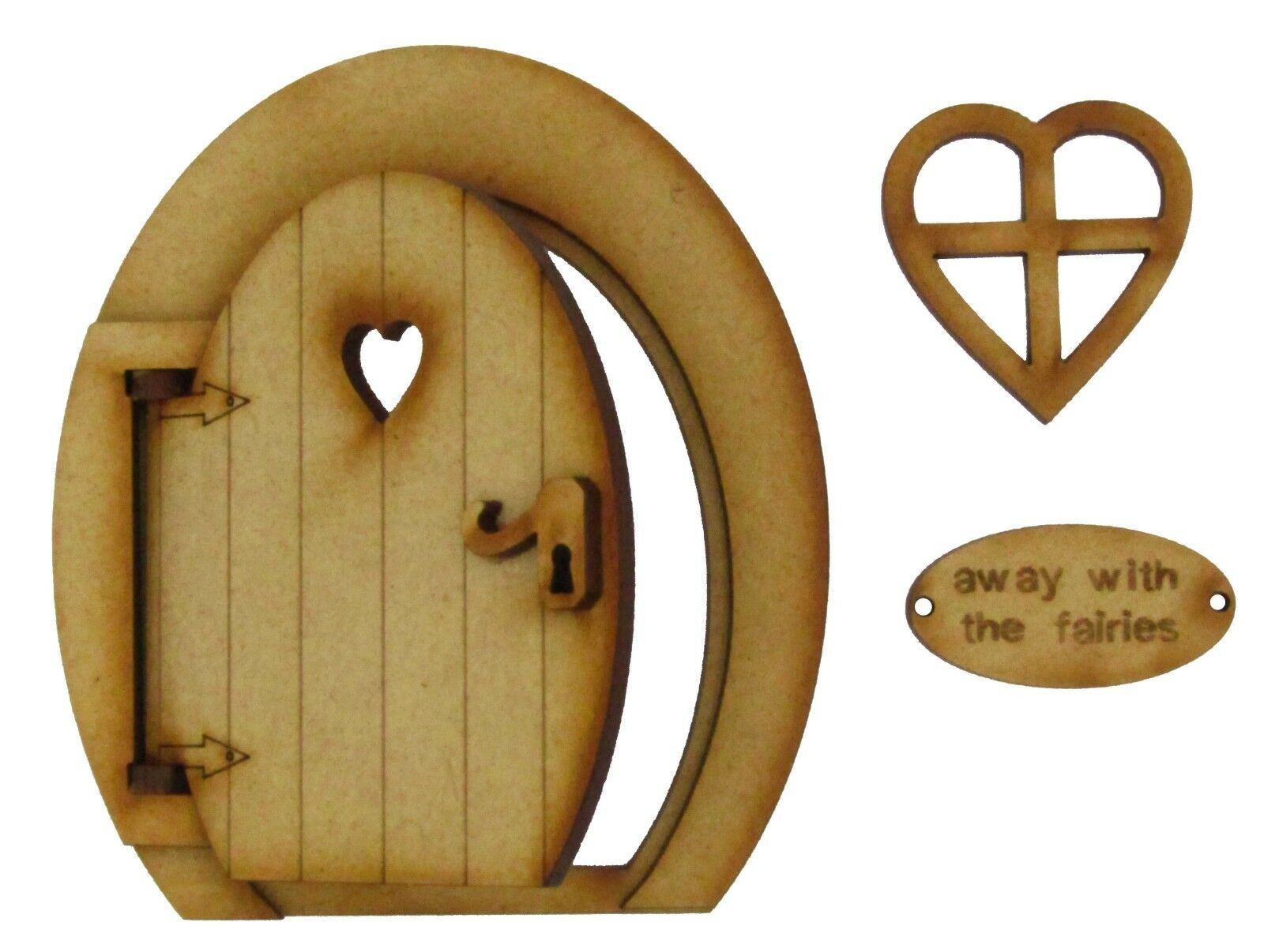 Opening fairy door 3d round wooden craft kit with fairy for Fairy door kits canada