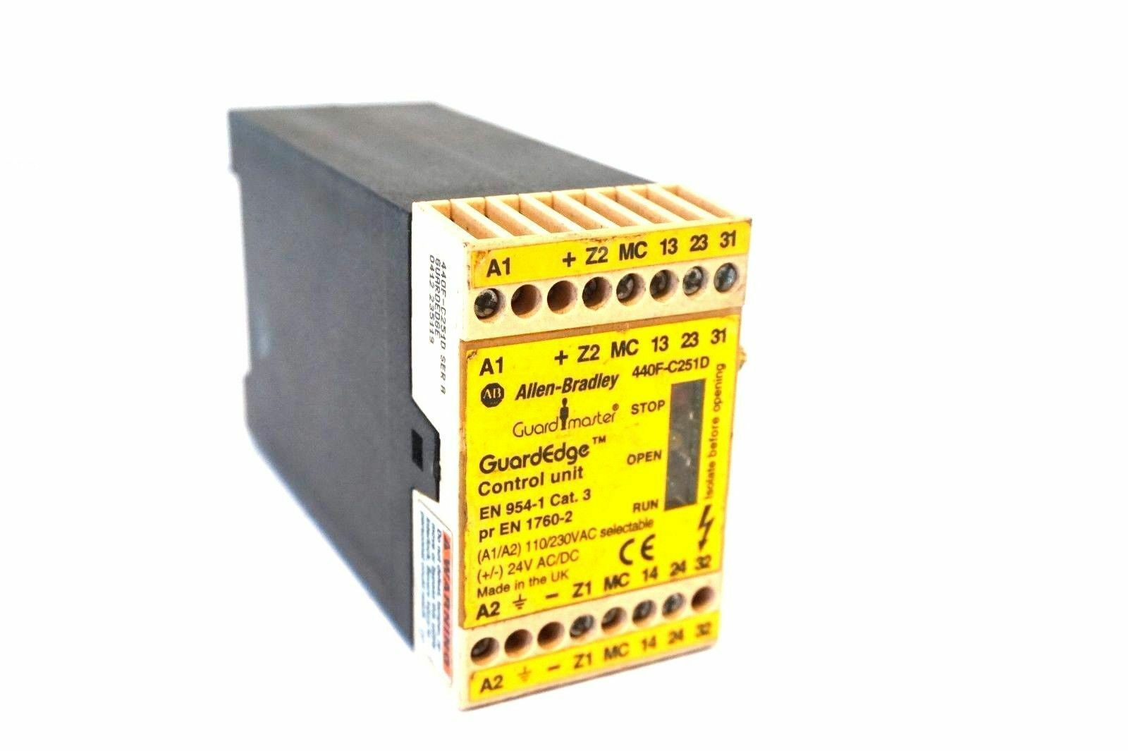 Used Allen Bradley 440f C251d Control Unit Sera 440fc251d 8500 Circuit Breaker Analyzer Timer Cat03 1 Of 2only Available