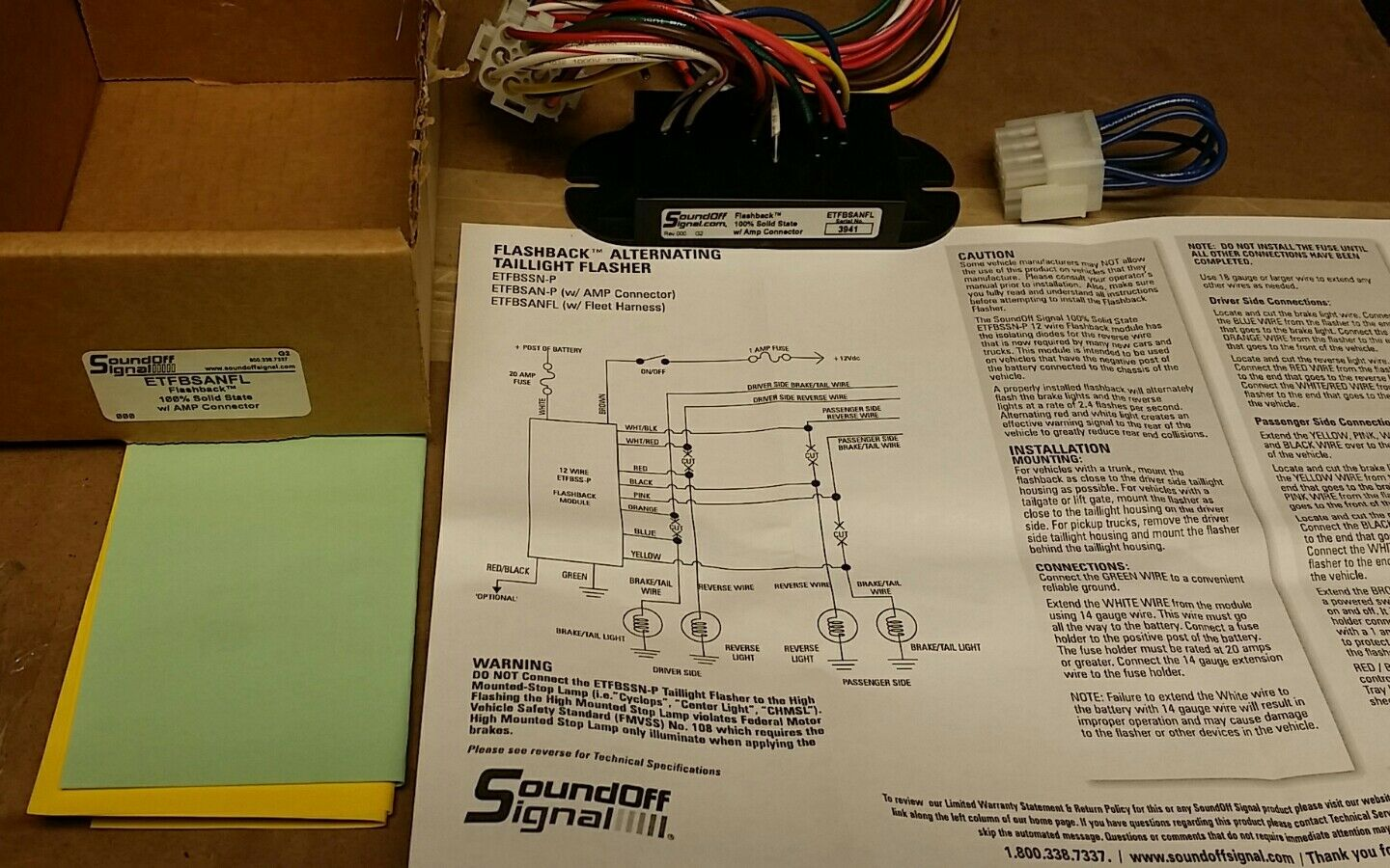 1 of 5Only 1 available New SoundOff Signal Flashback Alternating Taillight  Flasher ETFBSANFL