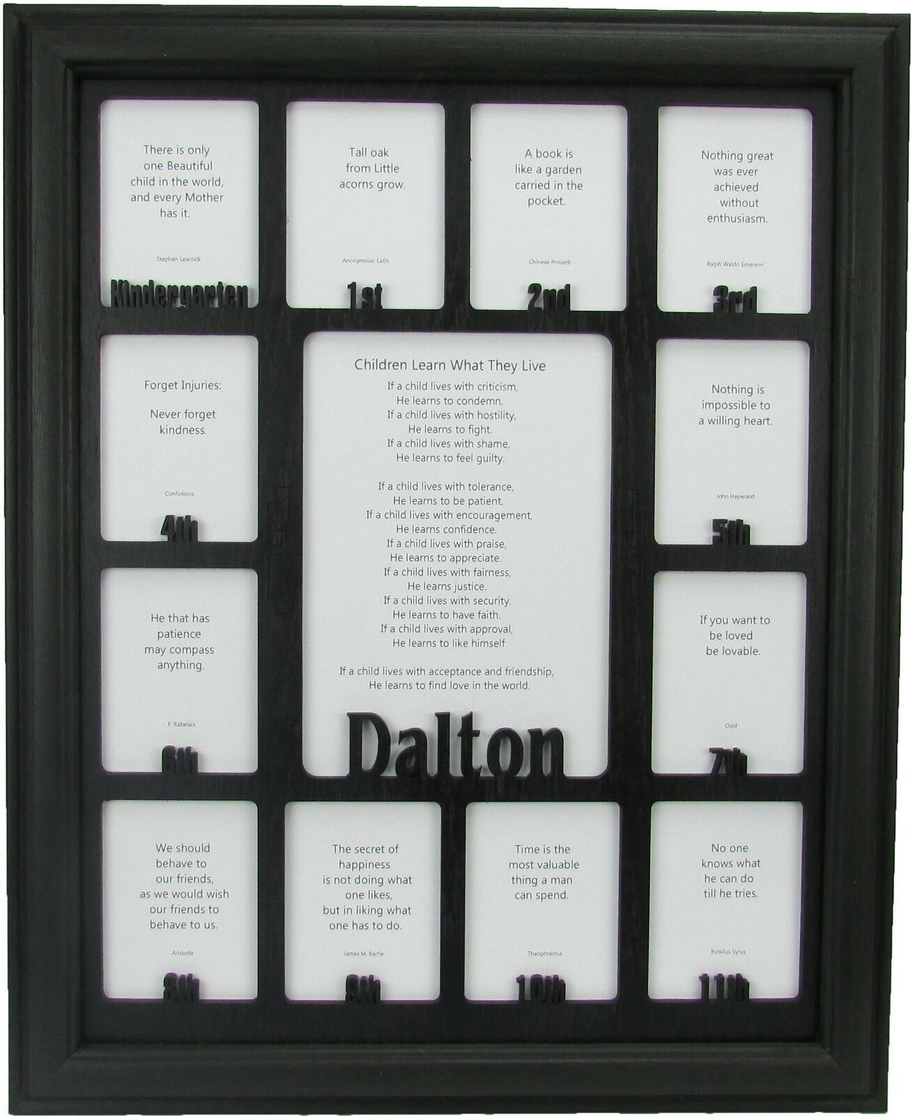 SCHOOL YEARS PICTURE Frame-Personalized Name-kindergarten to ...