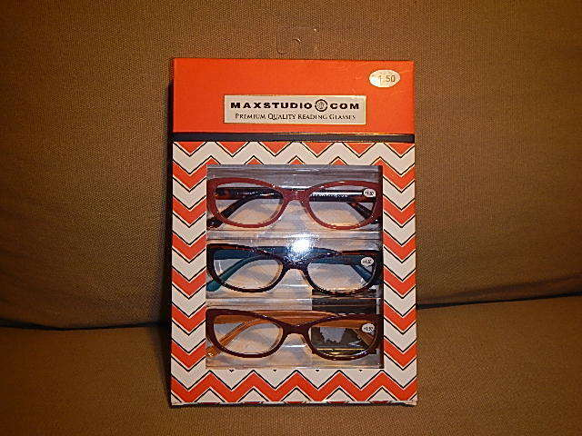 maxstudio premium reading glasses 2 50 set of three new