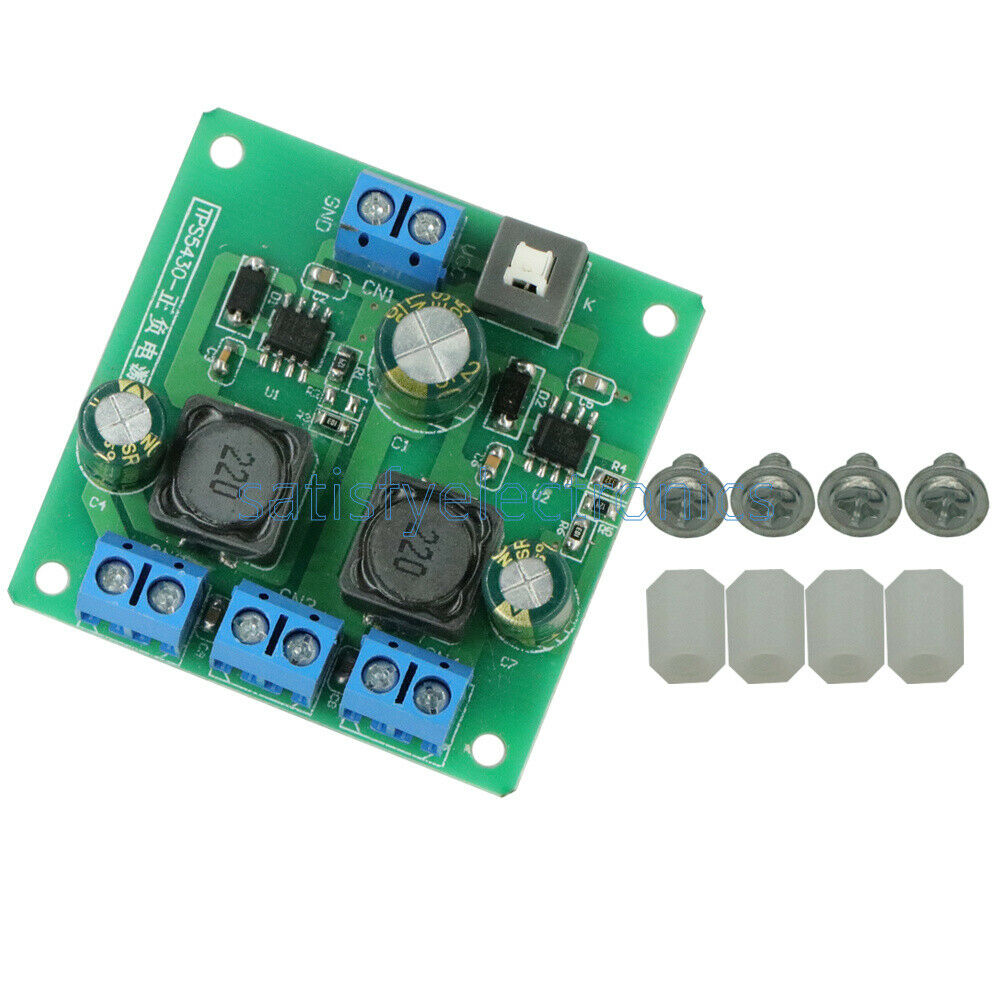 New Tps5430 Positive Negative Dual Power Supply Module With 5vdc To 12v And Isolated Switching