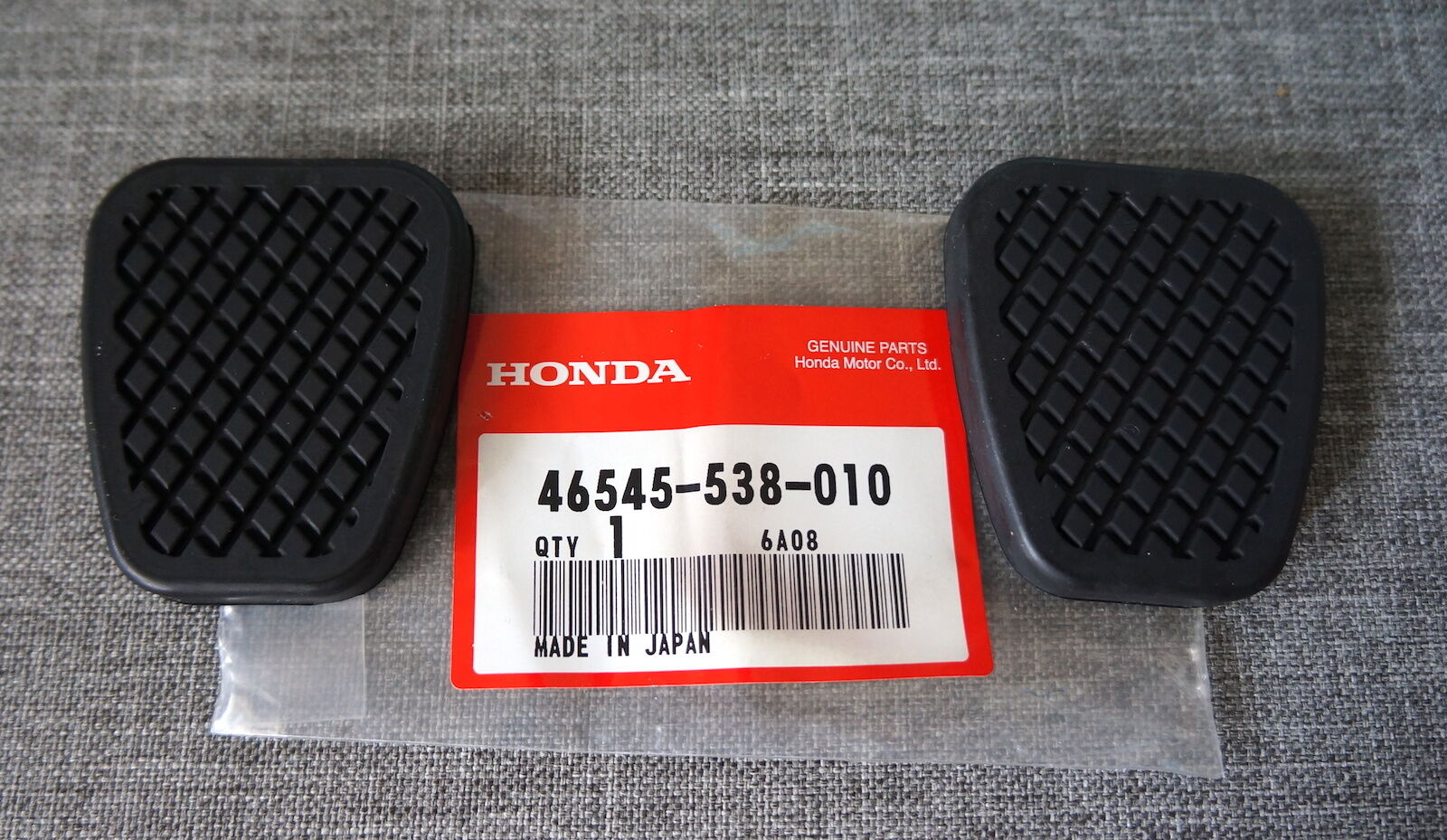 2x OEM Honda Brake & Clutch Pedal Pad Cover for CR-V CR-X 1 of 7Only 3  available 2x OEM Honda Brake & Clutch Pedal Pad ...