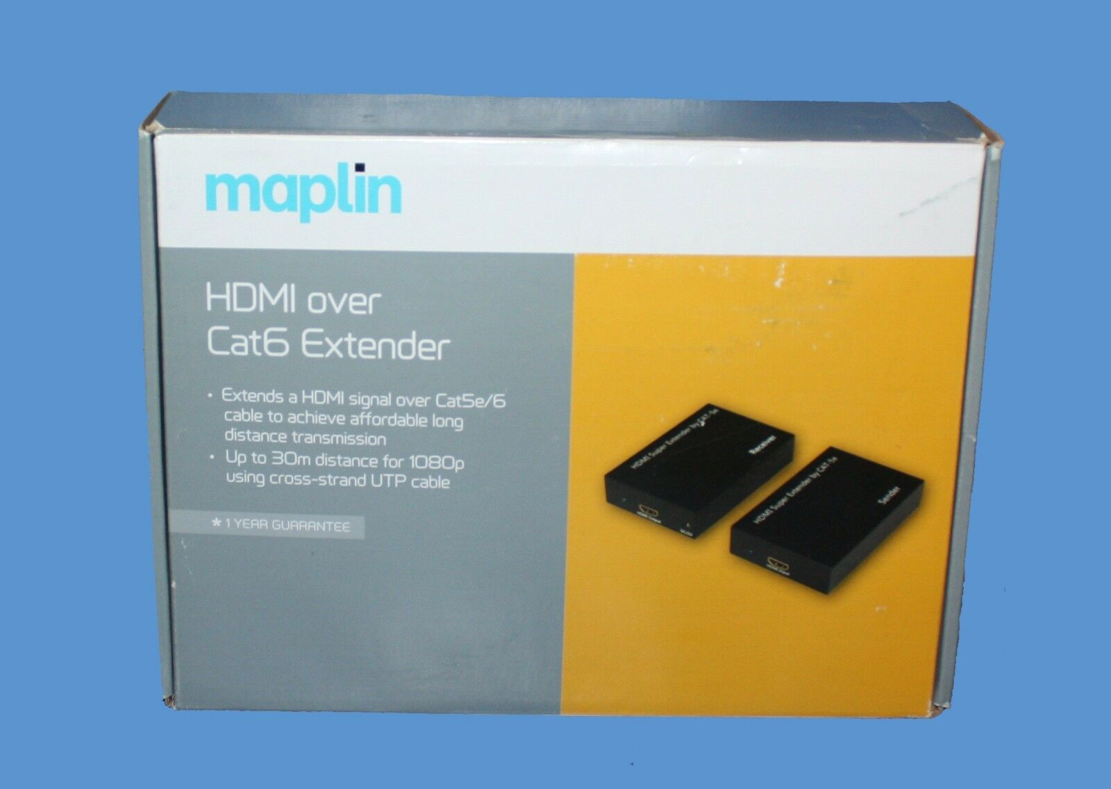 Maplin 60m Hdmi Over Cat5e 6 Range Extender 1080p A99rr Rrp Rj45 Wiring Diagram 1 Of 2free Shipping