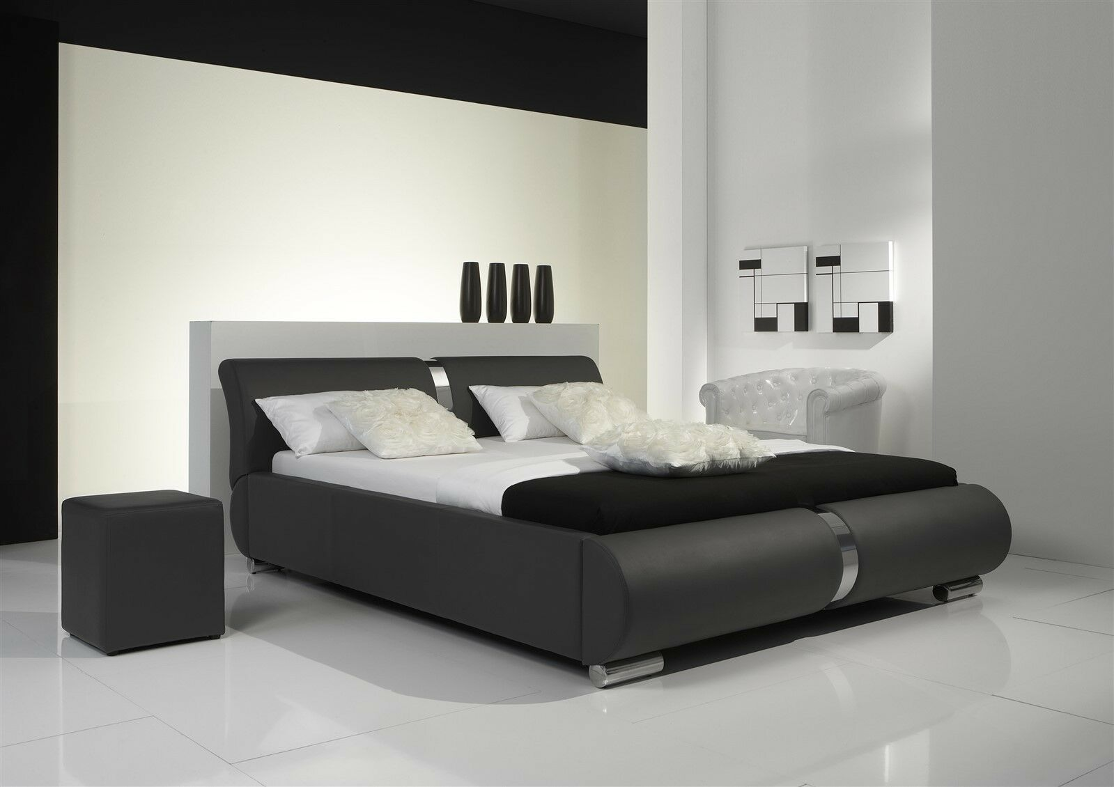 polsterbett bett doppelbett tagesbett dakar 160x200 cm grau eur 789 60 picclick at. Black Bedroom Furniture Sets. Home Design Ideas