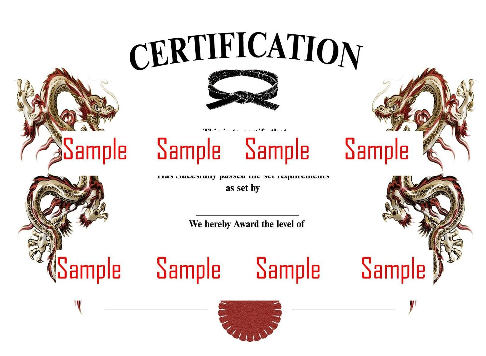 martial arts certificate templates cd to use customise