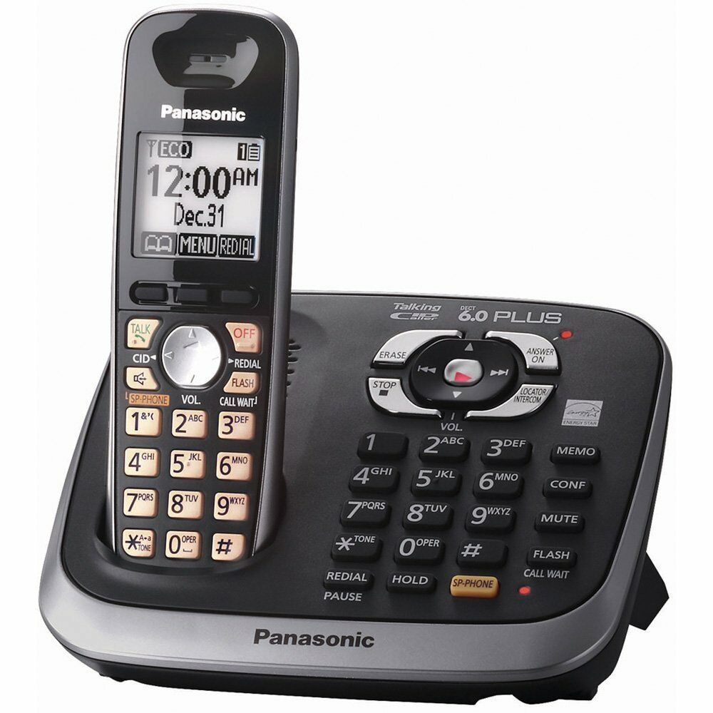 panasonic kx tg5632 5 8 ghz dual handsets single line cordless phone rh picclick com  kx-tg5632 user manual
