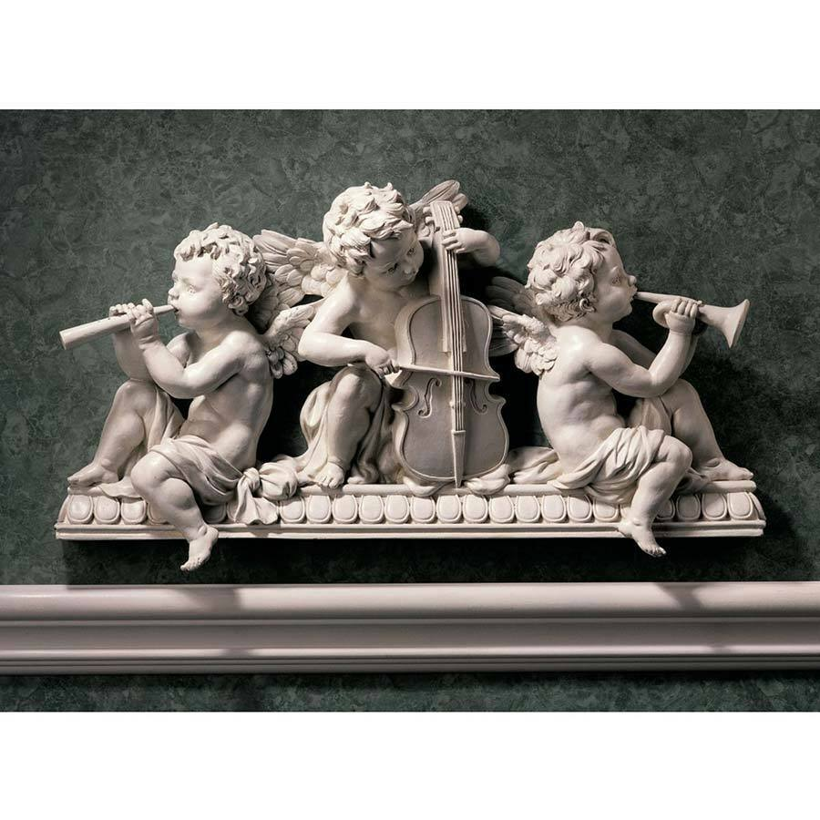 Angelic Choir Band Cherub Wall Sculpture Pediment Baroque