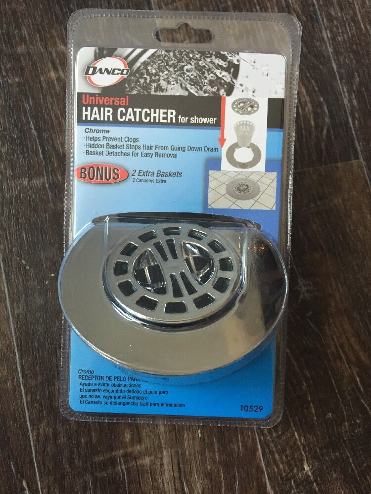 Hair Catcher Shower Drain Chrome Waste Strainer Filter Net Collectors Stop  Clogs