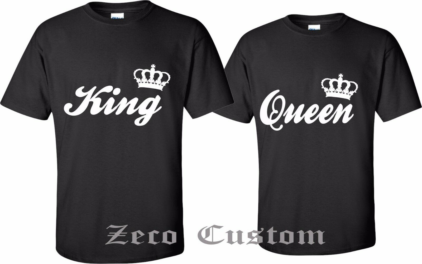 Couple t shirt design white - King And Queen Couple Matching Love T Shirt New Cool Design With White Litters King And Queen Couple Matching Love T Shirt New Cool Design With White