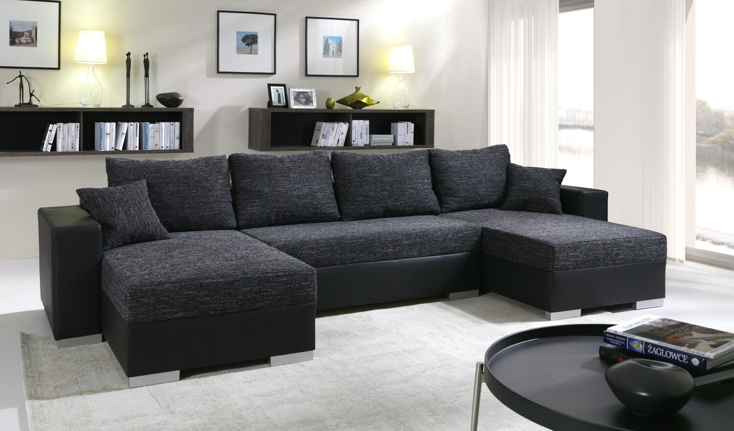 couchgarnitur ecksofa eckcouch sofagarnitur sofa 4112200 3 mit schlaffunktion chf. Black Bedroom Furniture Sets. Home Design Ideas