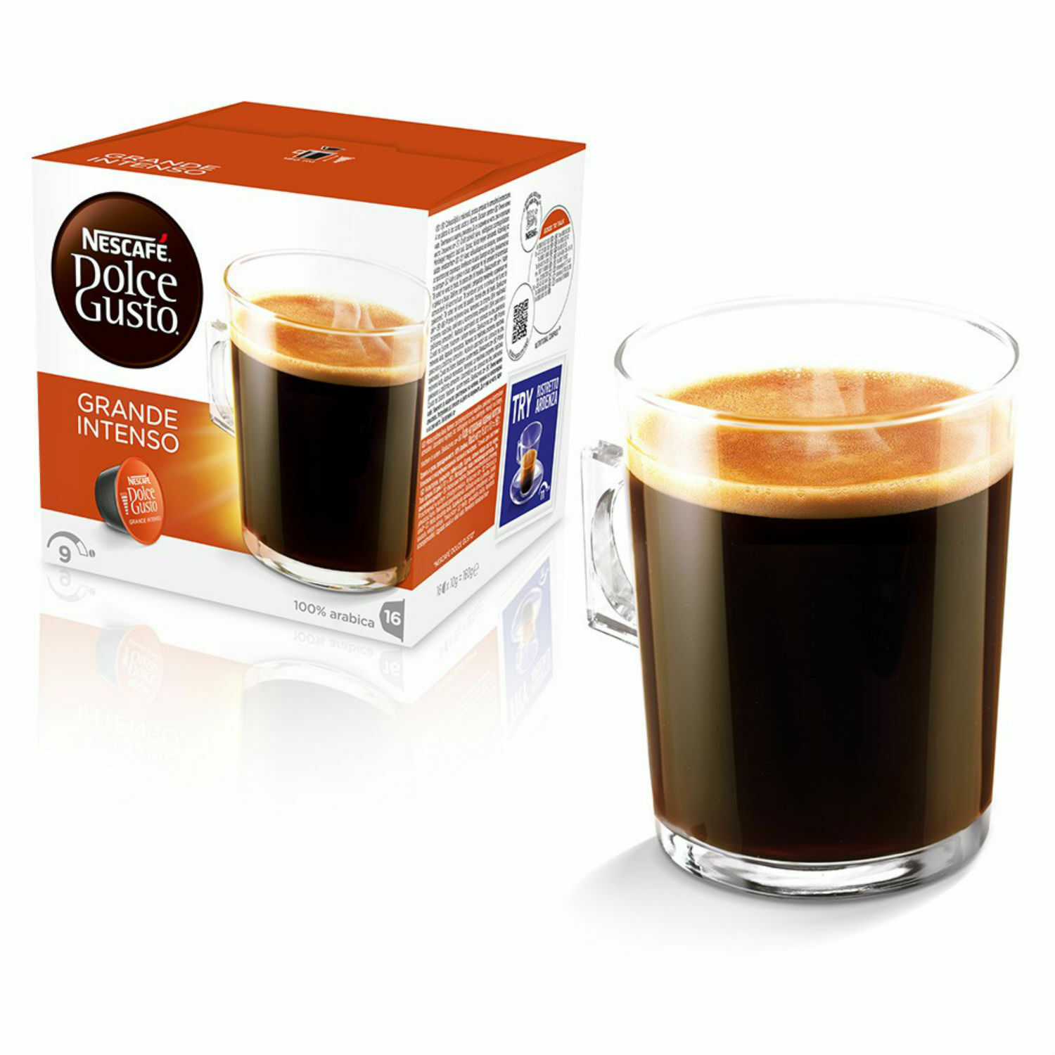 Dolce Gusto Cafe Crema Grande Intenso Coffee (6 Boxes,Total 96 Capsules )
