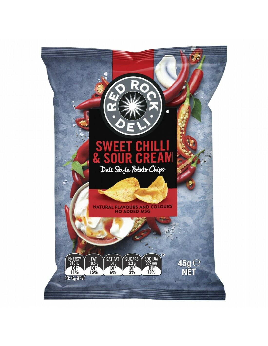 Red Rock Chip Sweet Chilli and Sour Cream 45g x 18