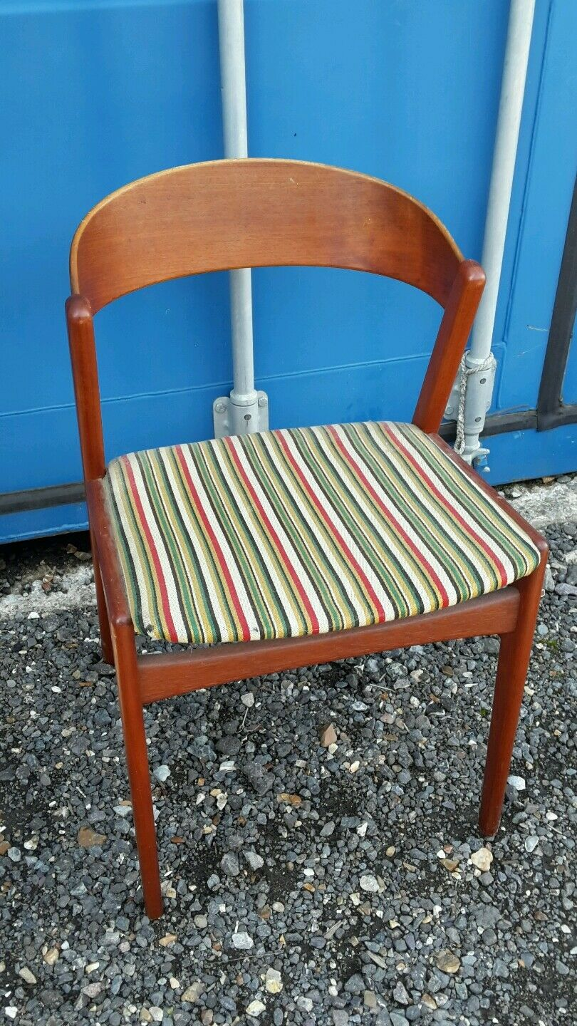 DANISH TEAK DINING CHAIR MOBLER LUNO VINTAGE 1960's
