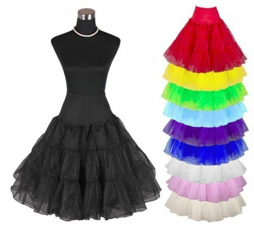 neu petticoat unterrock rockabilly 50er 60er jahre dirndl. Black Bedroom Furniture Sets. Home Design Ideas