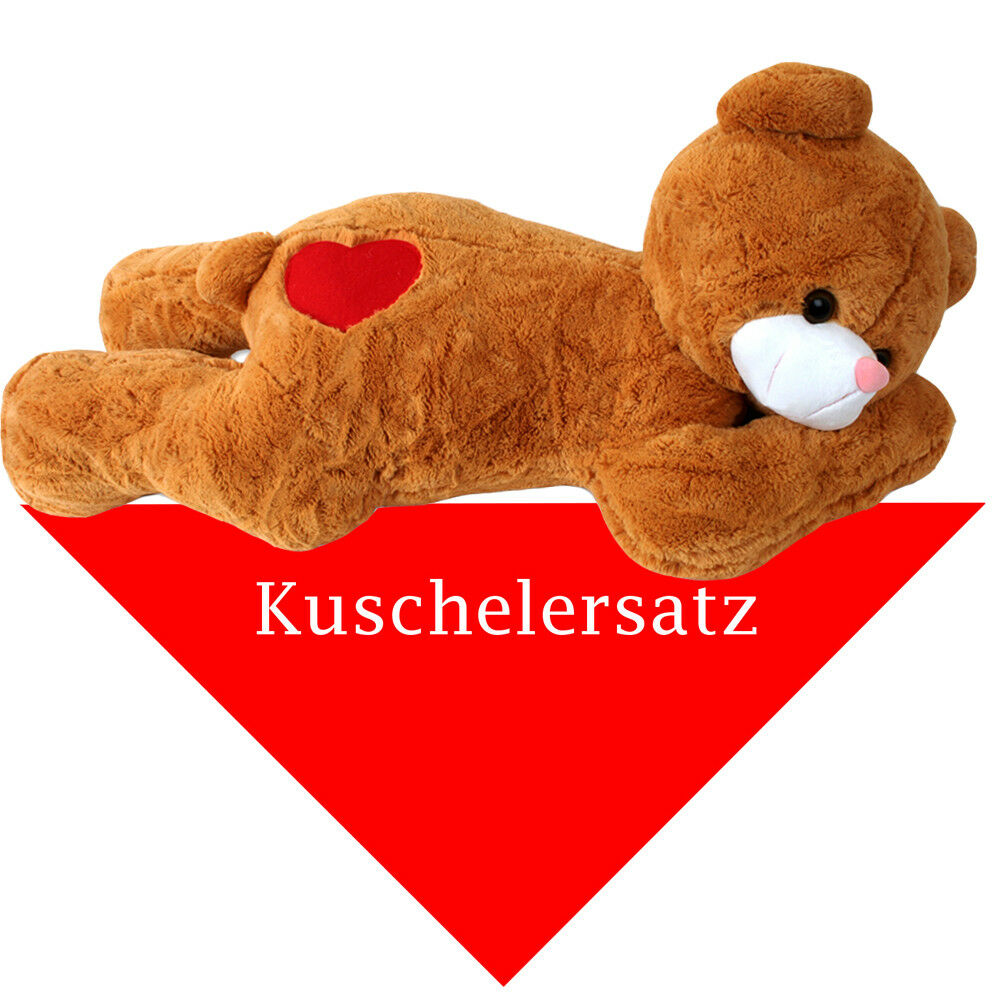 xxl riesen teddy teddyb r kuscheltier pl sch tuch kuschelersatz braun 100 cm eur 39 95. Black Bedroom Furniture Sets. Home Design Ideas