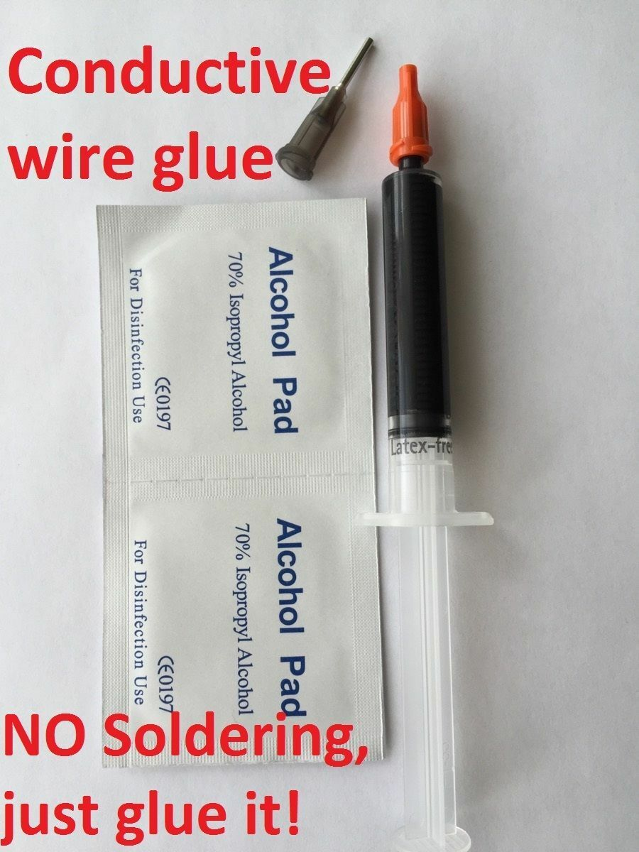 Conductive Wire Glue Model Railway Wiring No Soldering Just It A Black Uk 1 Of 4