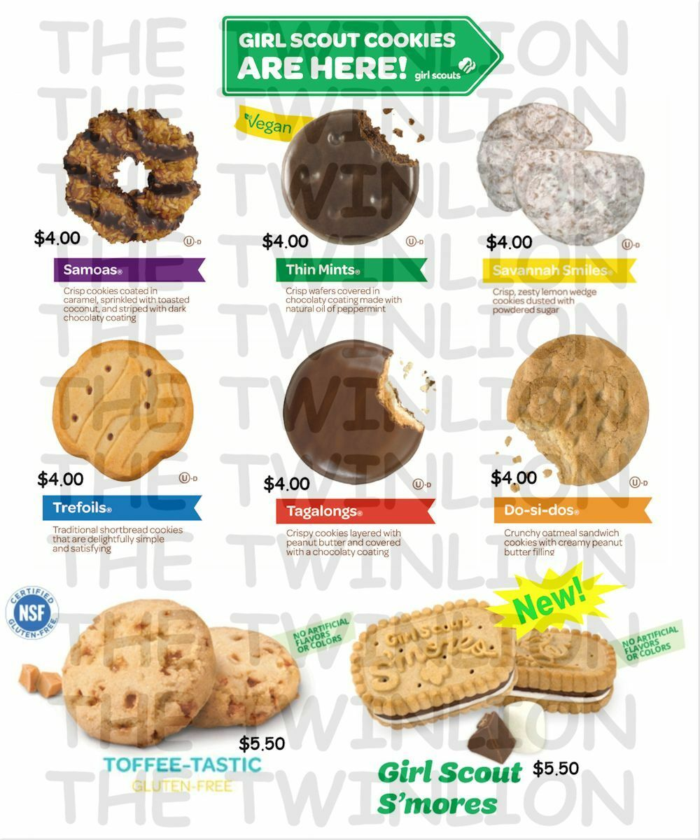girl scout cookies 2017 pre sale  8 kinds to choose