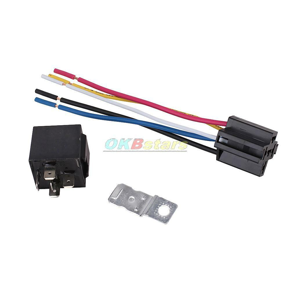 5pin Single Pole 12v 30 40 Amp Spdt Automotive Relay W Wires Socket Harness 1 Of 8free Shipping