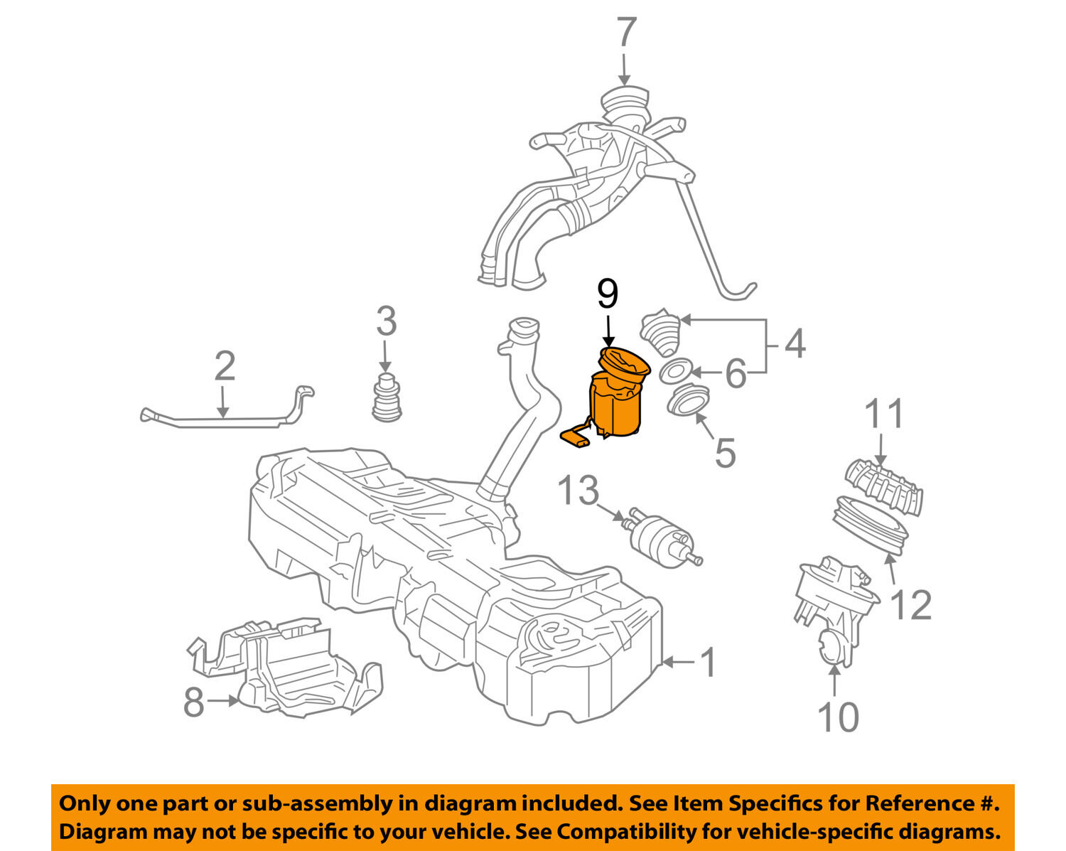 Mercedes Oem 02 05 C320 Fuel Pump 2034702394 25560 Picclick Engine Diagram 1 Of 2only Available