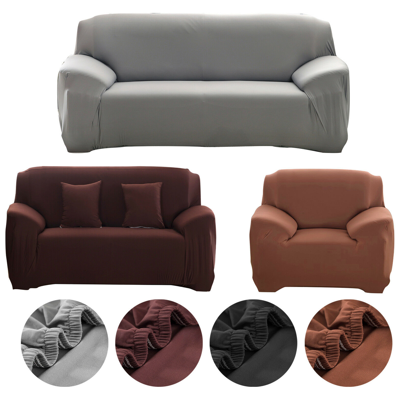 1 2 3 Seater Sofa Slipcover Stretch Protector Soft Couch Cover