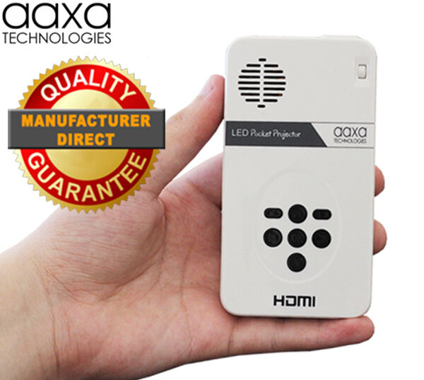 Aaxa led pico pocket projector w qhd resolution ultra for Pocket pico mobile projector