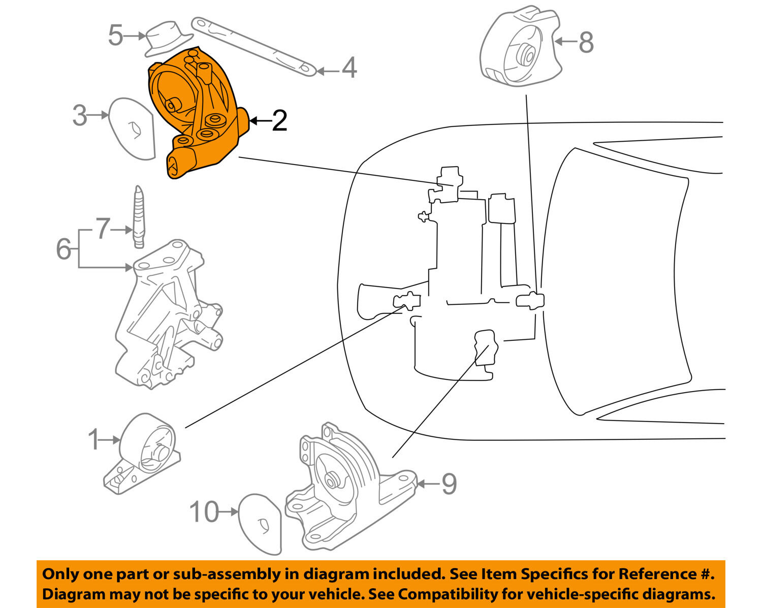Eclipse Motor Mount Diagram Trusted Wiring Diagrams Mitsubishi Engine Oem 00 05 Torque Strut 2002 Volvo S60 Cylinders