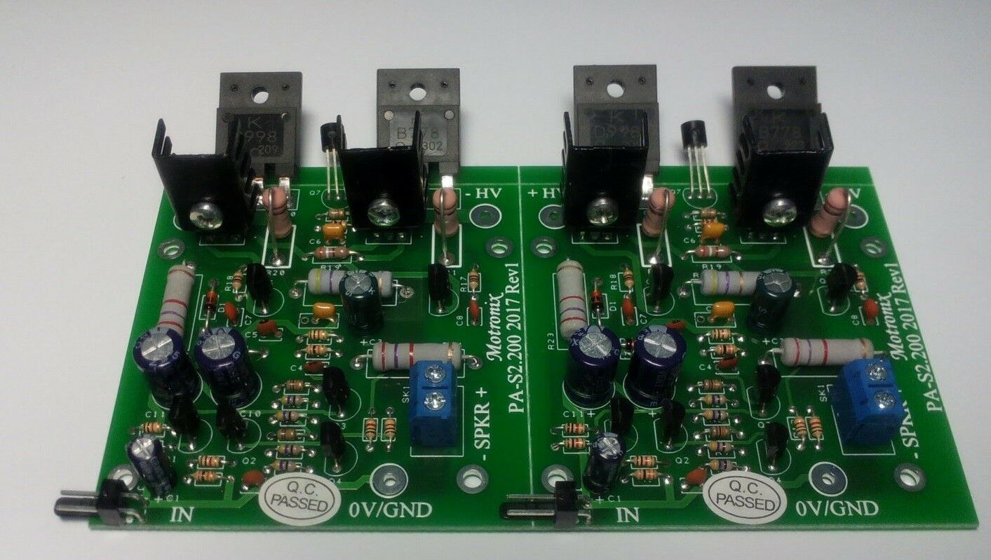 100w 4 8 Ohm Hifi Bipolar Class Ab Power Audio Amplifier Assembled 200w Simple Circuit Using Tda7294 1 Of 7 See More