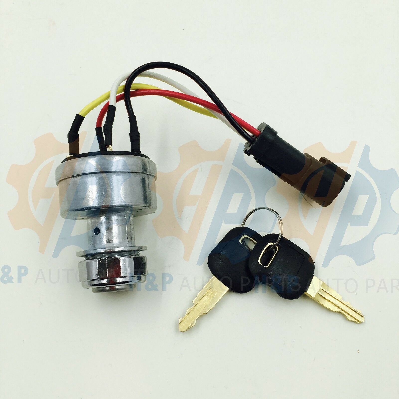 142 8858 New Ignition Switch With 2keys Fits Caterpillar 257b Cat Fork Lift Wiring Diagram 1 Of 3only 2 Available