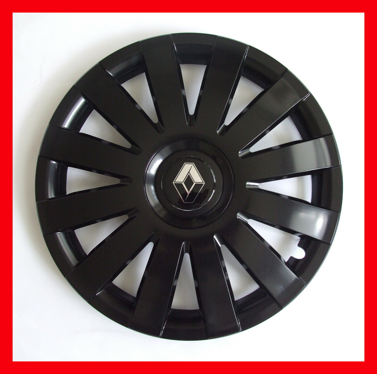 13 renault clio twingo wheel trims covers hub caps set of. Black Bedroom Furniture Sets. Home Design Ideas