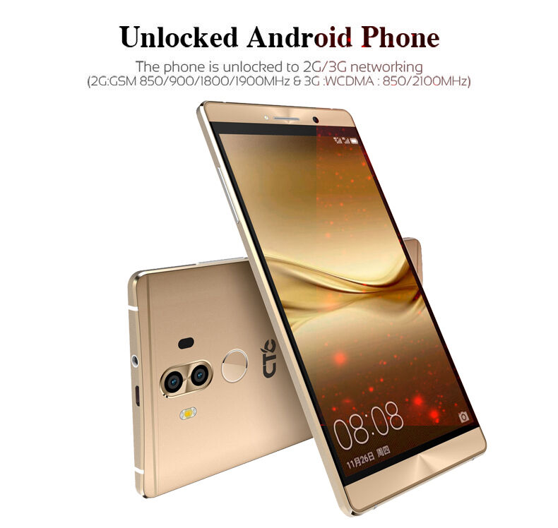 ctc smartphone 6 unlocked android 6 0 dual sim quad core 3g for mobile phone uk. Black Bedroom Furniture Sets. Home Design Ideas