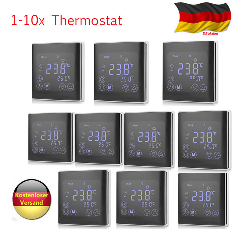digitaler digital lcd thermostat fu bodenheizung. Black Bedroom Furniture Sets. Home Design Ideas