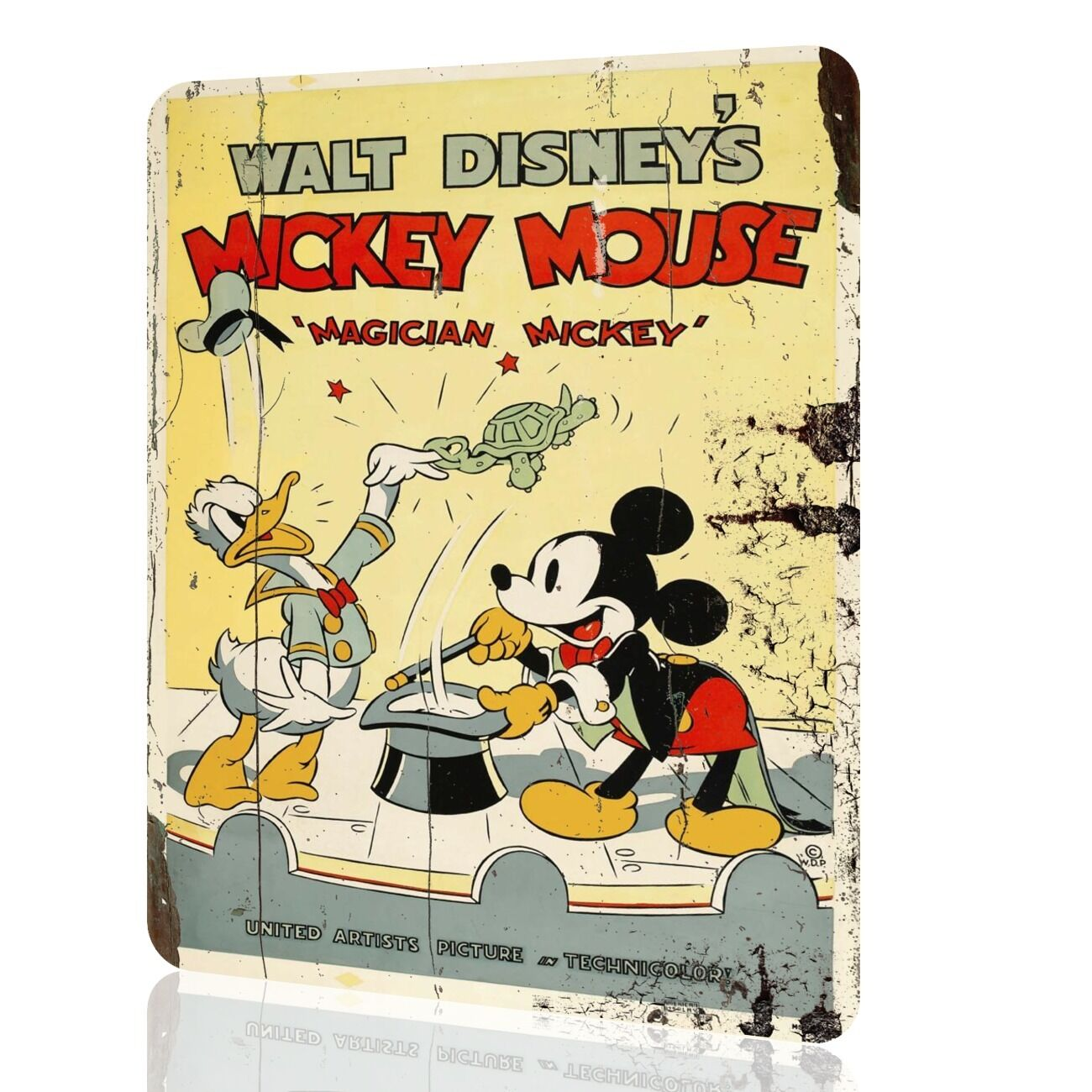 METAL SIGN MICKEY MOUSE Disney Classic Poster Retro Vintage Rusted ...