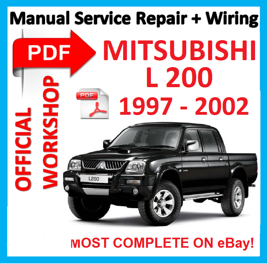official workshop manual service repair for mitsubishi l200 l 200 rh picclick com Mitsubishi L200 Motor Mitsubishi L200 Truck Rally
