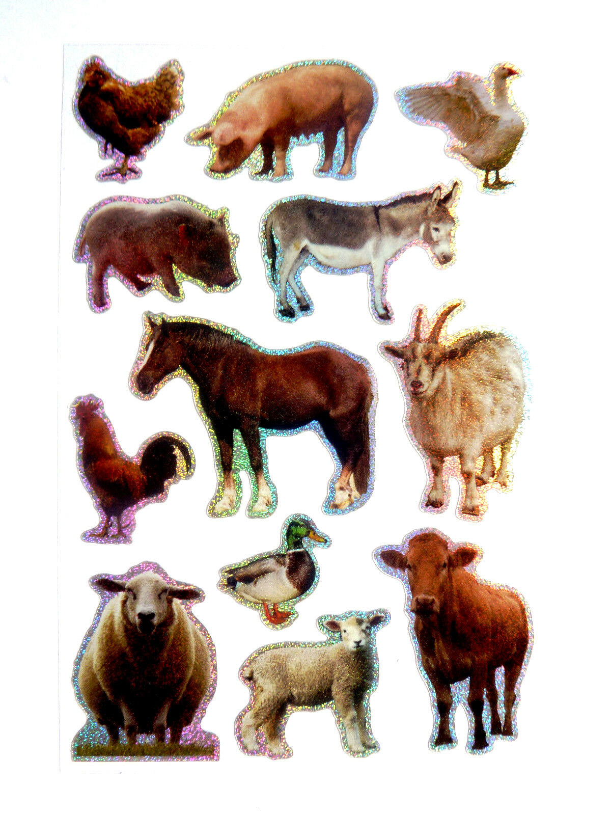 Farm Animal Stickers Childrens Labels For Kids Craft And Decoration Puffy Sticker Farmyard Fun Ls43 1 Of 3free Shipping