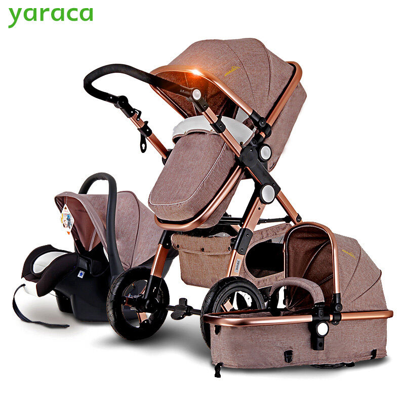 baby stroller 3 in 1 with car seat for newborn high view folding baby carriage. Black Bedroom Furniture Sets. Home Design Ideas