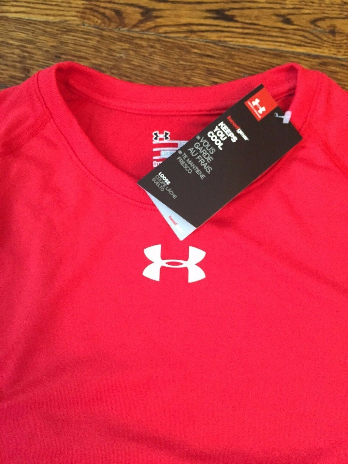 Men's Under Armour Red Short Sleeved T-shirt ALL SIZES Brand New w/Tags