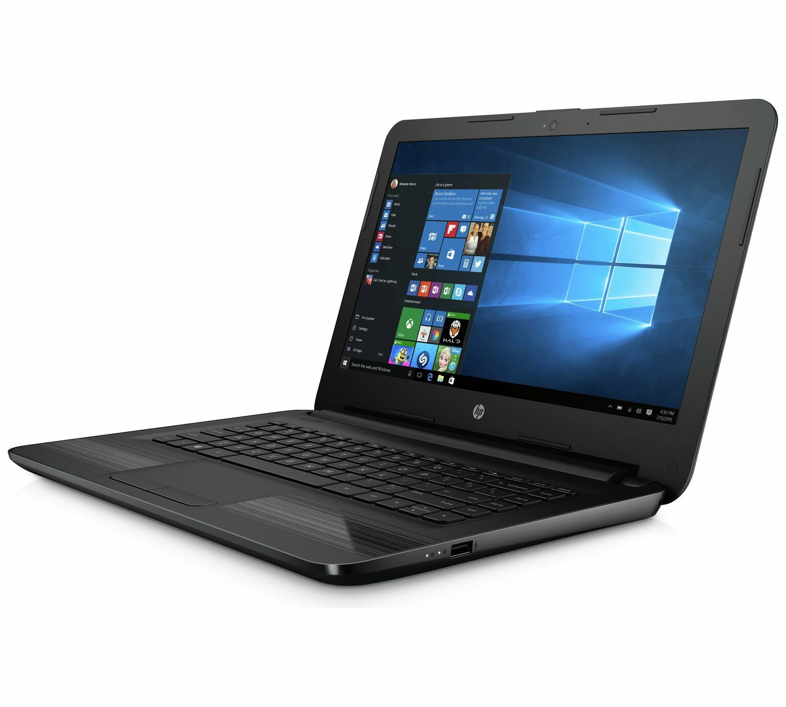 hp 14 am075na 14 laptop intel core i3 8gb ram 2tb hdd windows 10 black eur 372 92. Black Bedroom Furniture Sets. Home Design Ideas