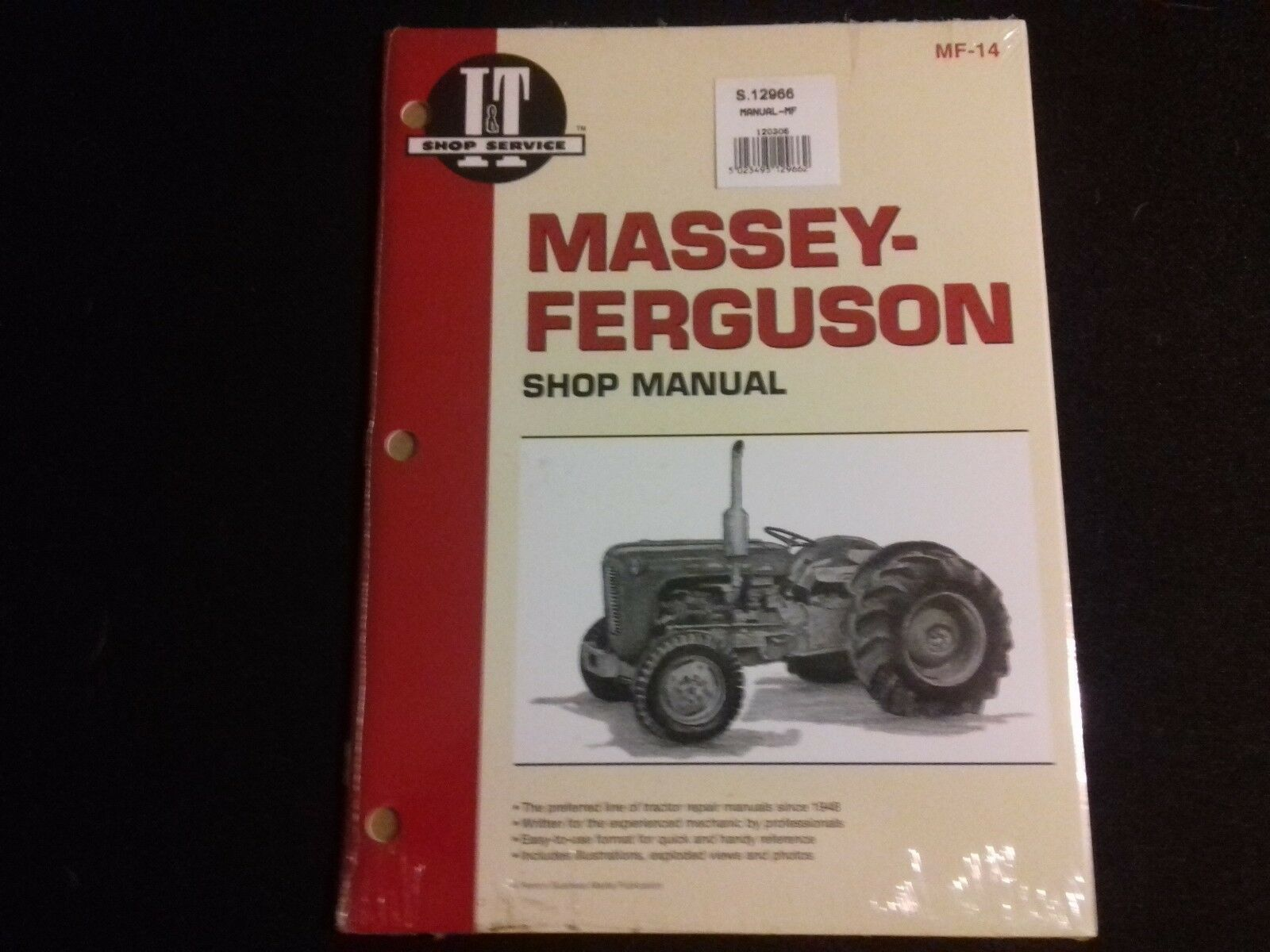 Massey Ferguson 35 Tractor Workshop Manual 1 of 2FREE Shipping ...