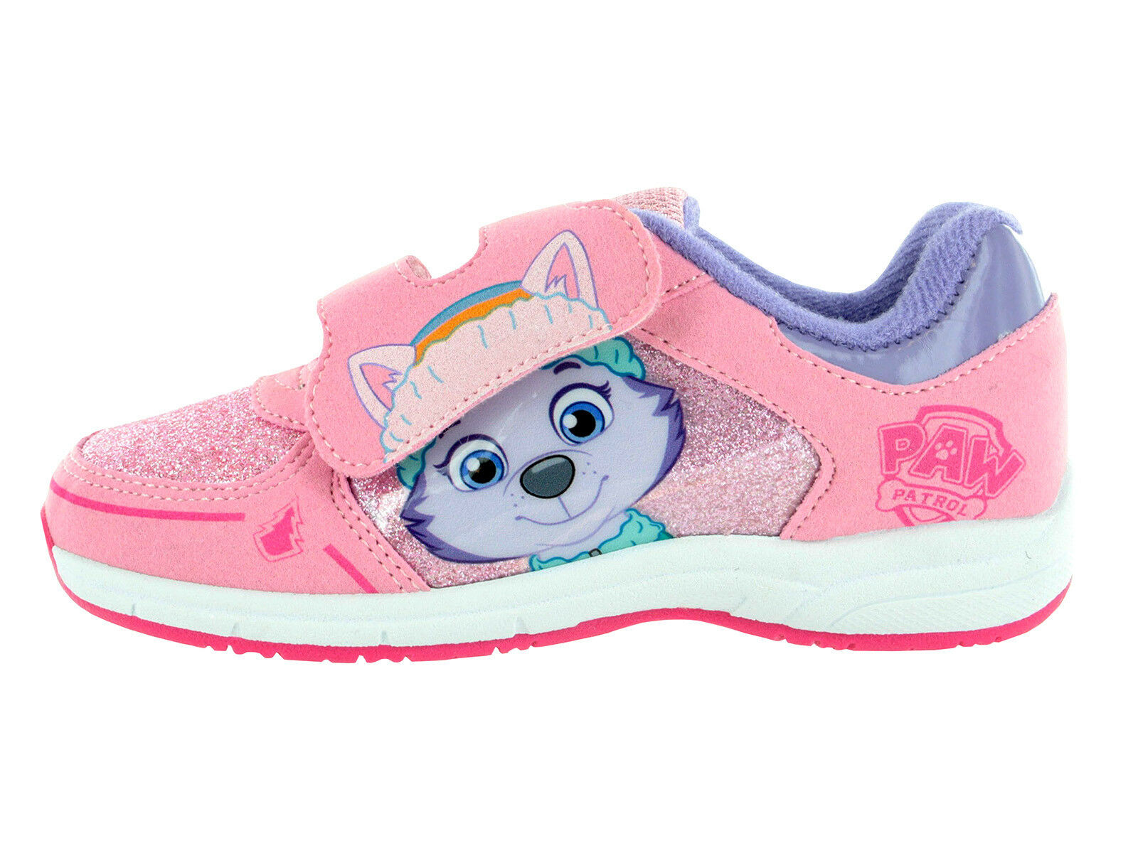 Girls Paw Patrol Pink Wipe Clean Casual Trainers Sports Shoes Sizes 8-13 Child