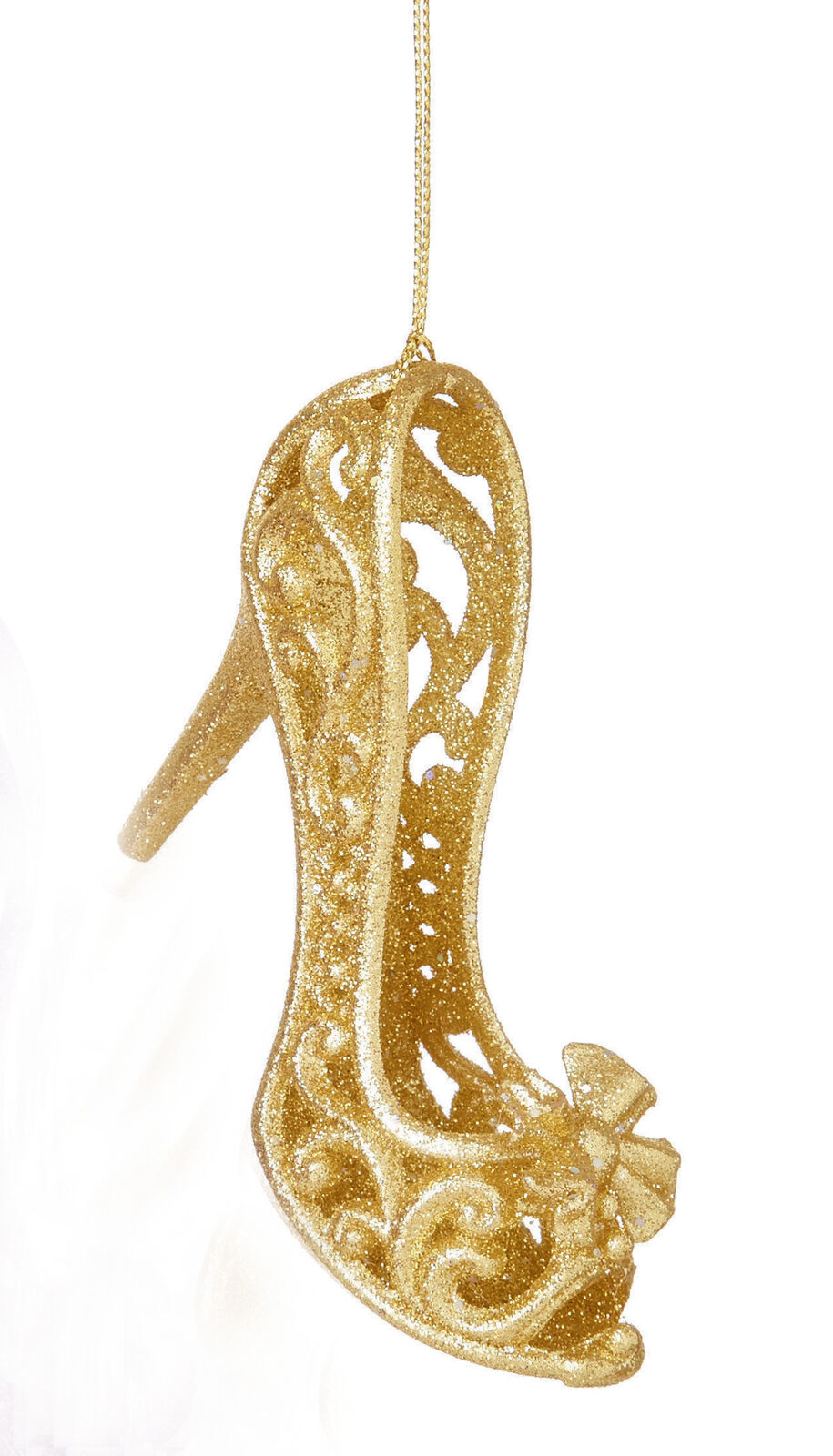 3 X GOLD 3D Shoe Hanging Decorations Baubles Christmas Tree Hanging ...