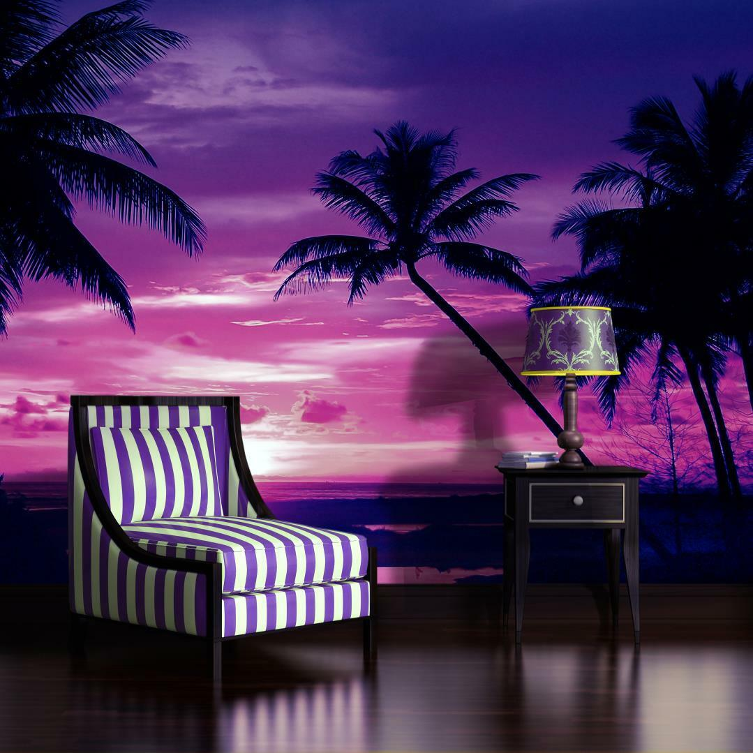 vlies fototapete fototapeten tapete tapeten foto palmen sonnenuntergang 889 ve eur 1 00. Black Bedroom Furniture Sets. Home Design Ideas