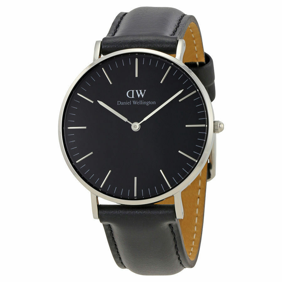 daniel wellington classic black sheffield silber 36mm. Black Bedroom Furniture Sets. Home Design Ideas