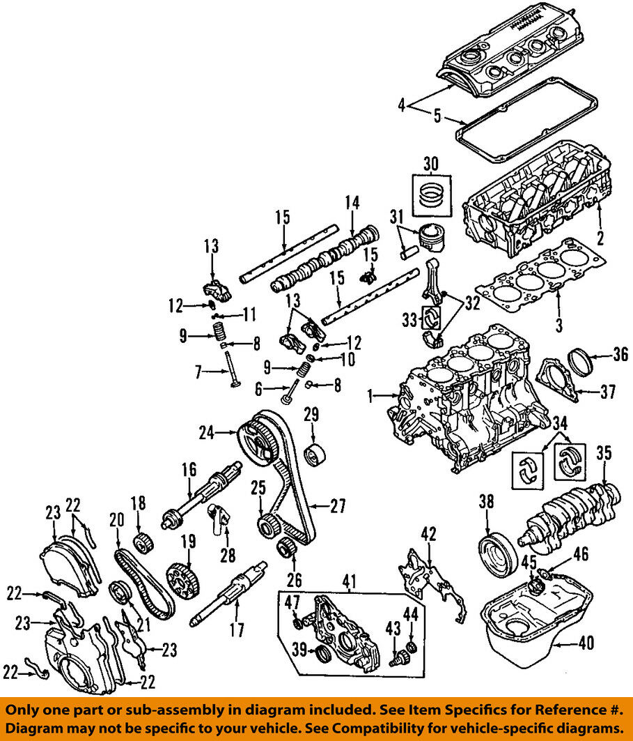 Mitsubishi Oem 00 05 Eclipse Engine Timing Belt Md336149 4994 4g63 Diagram 1 Of 1only Available