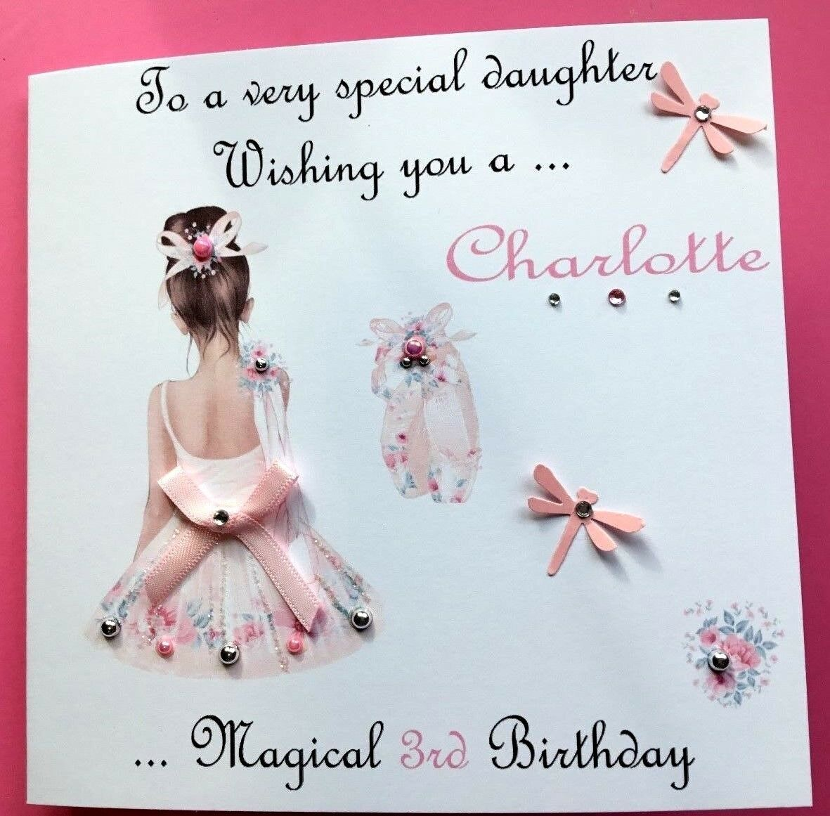 Personalised Handmade Birthday Card Daughter Granddaughter Sister Niece All Ages 1 Of 8FREE Shipping