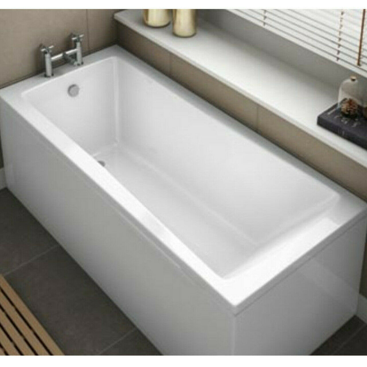 MODERN SQUARE KARTELL Options Single Ended Bath Tub 1700mm x 700mm ...
