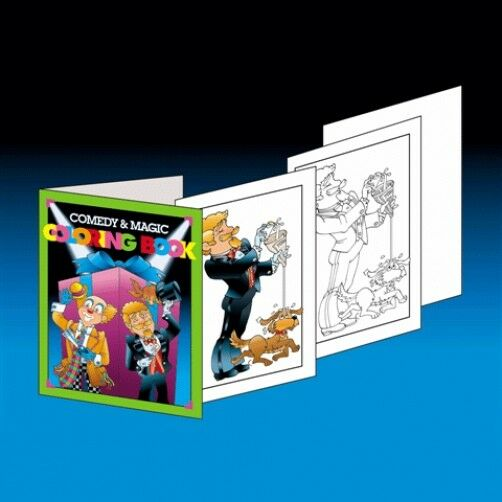 LARGE COMEDY & MAGIC COLORING BOOK Pages Change Colors Trick 8\