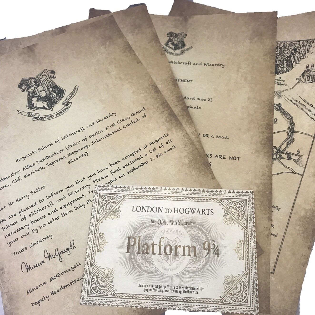 HARRY POTTER ACCEPTANCE HOGWARTS LETTER CUSTOMIZED In