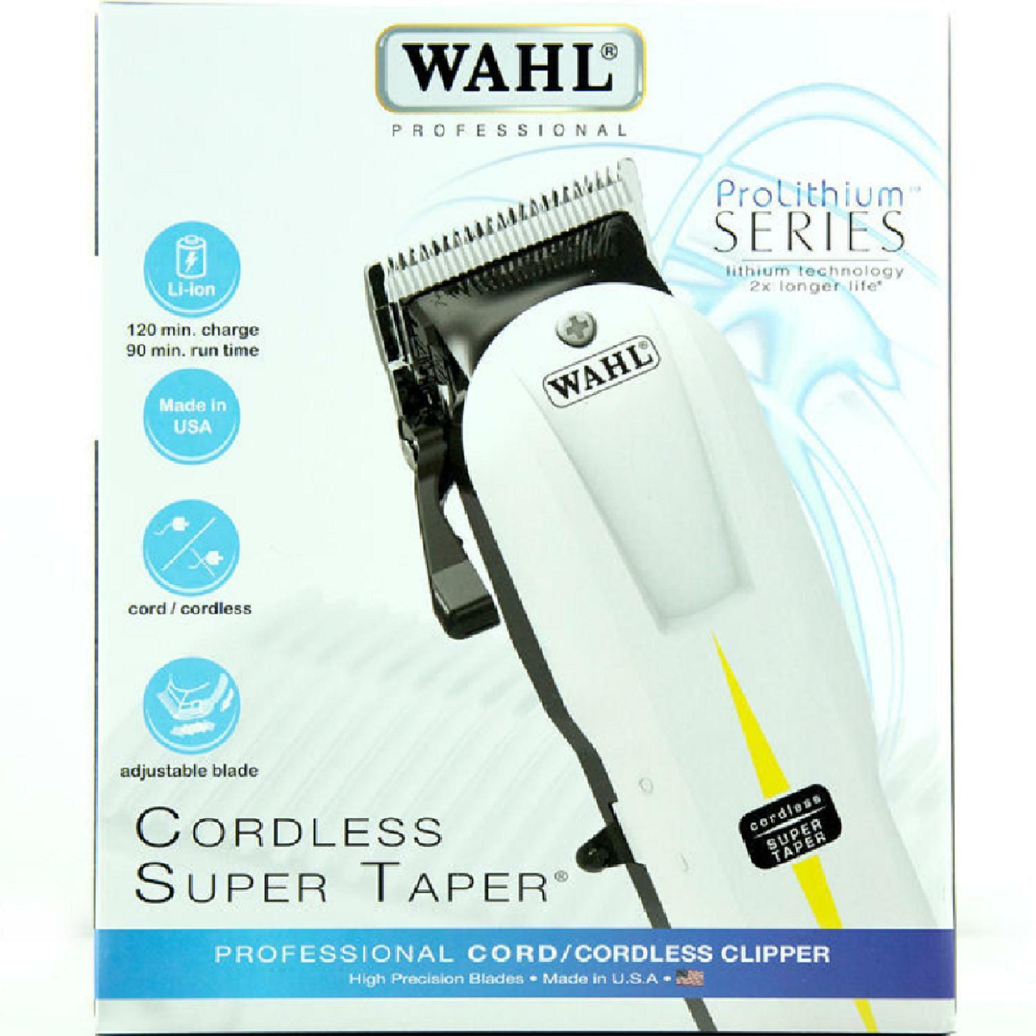 Wahl Super Taper Professional Mains Cordless Pro Hair Clipper New Classic Series 1 Usa Of 3only Available