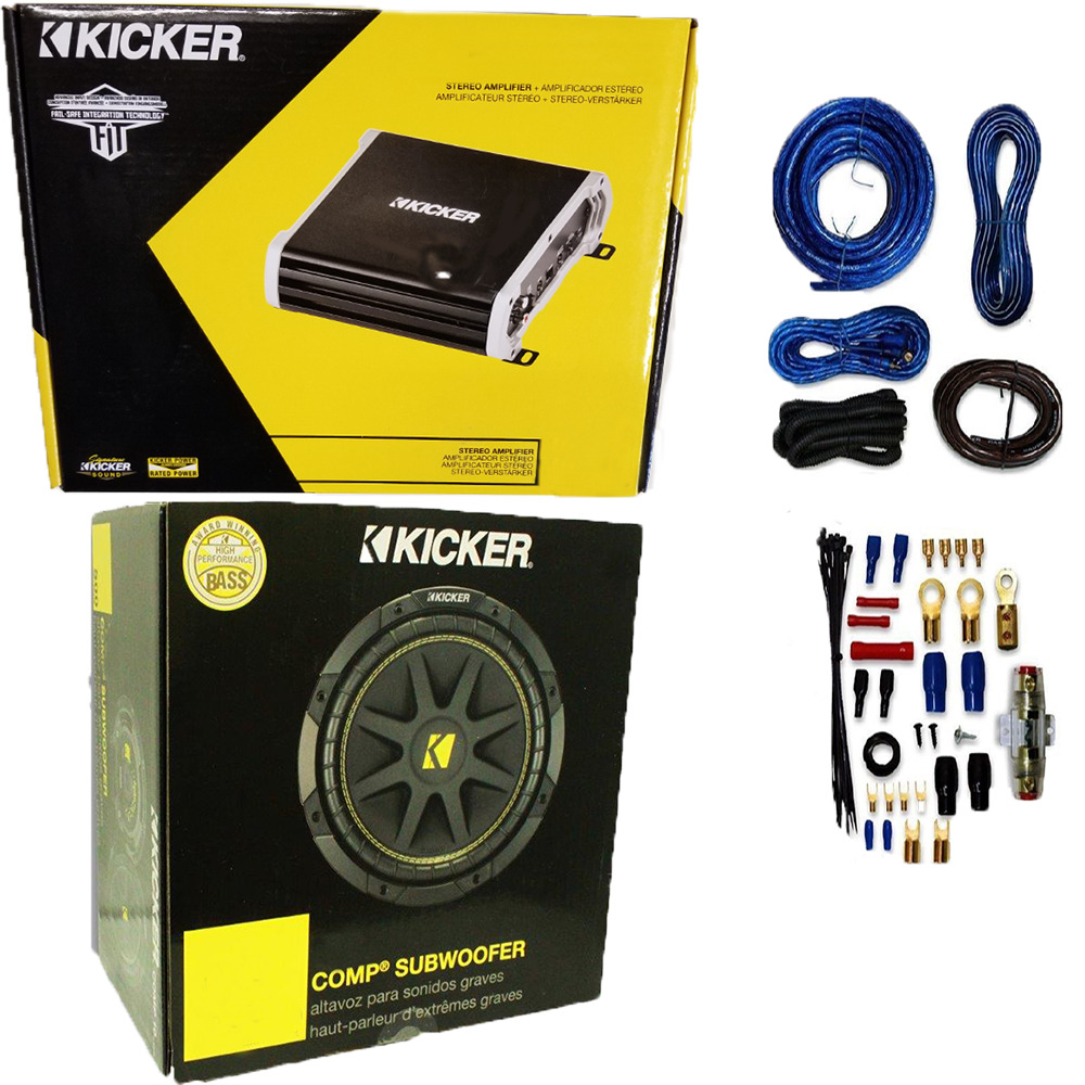 88 2 Channel Amp Subwoofer Kenwood 10 In Bass Party Pack Kac5207 Wiring Diagram Furthermore Kicker Cvr 12 On Parallel 1 Of 7free Shipping